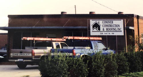 Conover Construction & Roofing, Inc. office building 1995